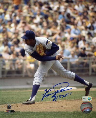 Fergie Jenkins Chicago Cubs with 3192 Ks Inscription Photo