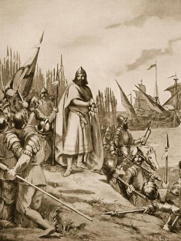 Erik the Saint Lands on the Coast of Finland, 1157 Giclee Print