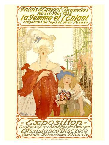 La Femme et l'Enfant Expo Giclee Print