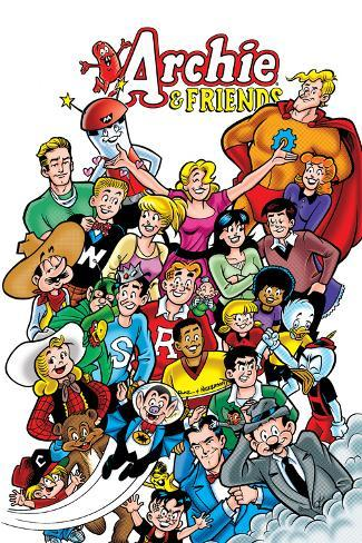 Archie Comics Cover: Archie & Friends No.138 A Night At The Comic Shop Giant Art Print