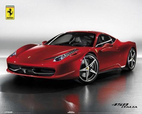 Ferrari - 458 Italia Car Mini Poster