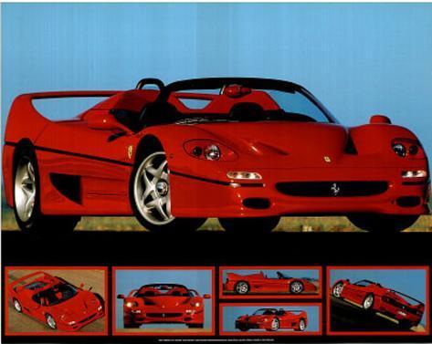 Ferrari F-50 (Photos) Sport Poster Mini Poster