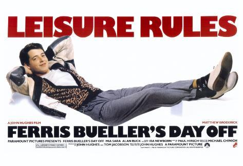 Image result for ferris bueller's day off movie poster