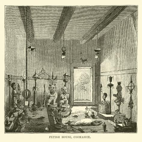 Fetish House, Coomassie Lámina giclée