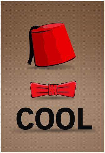 Fez and Bowtie Cool Poster Poster