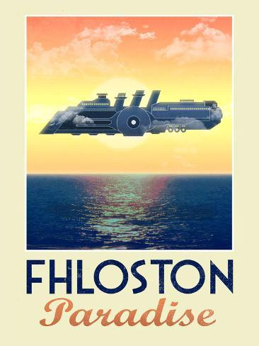 Fhloston Paradise Retro Travel Poster Póster