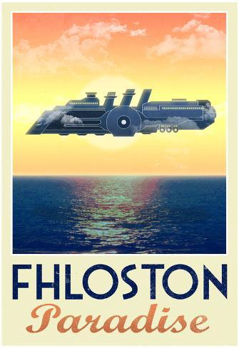 Fhloston Paradise Retro Travel Poster Poster