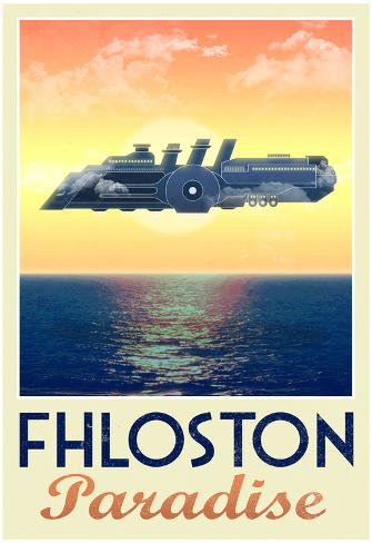 Fhloston Paradise Retro Travel Poster Poster