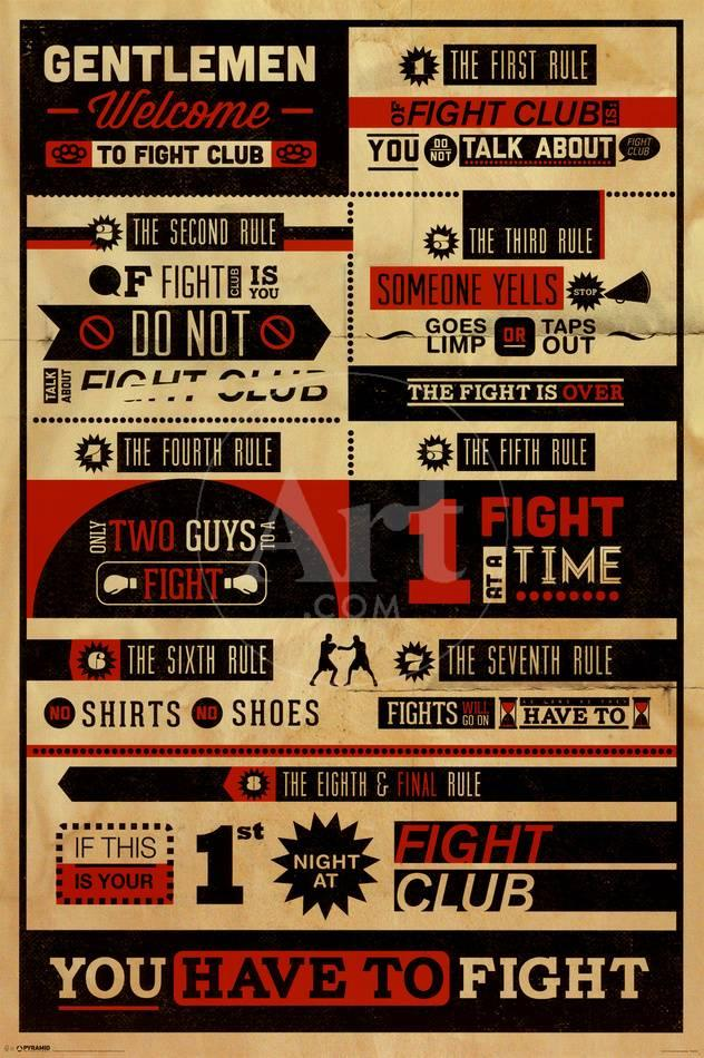 fight club poster  Fight Club - Rules Prints at