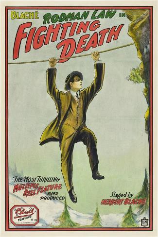 Fighting Death, Rodman Law, 1914 Art Print