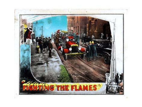 Fighting the Flames, 1925 Giclee Print