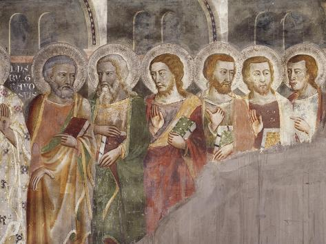 Figures of Apostles, Detail from Incredulity of Saint Thomas Giclee Print