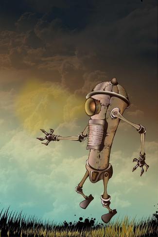 Funky Robot Art Print