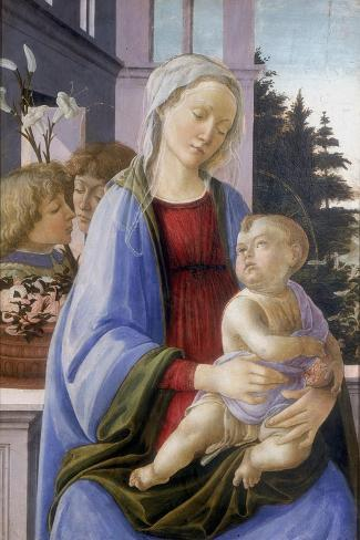 The Virgin and Child with Two Angels, 1472-1475 Giclée-vedos
