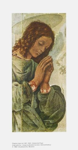 Adoring Angel Art Print