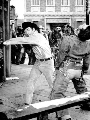 Film, Gunfight in Abilene Photographic Print