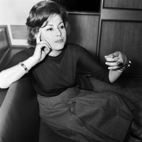 Film Star, Haya Harareet, June 1960 Photographic Print