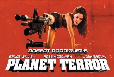 Filmposter Grindhouse, 2007, Engelse tekst Poster