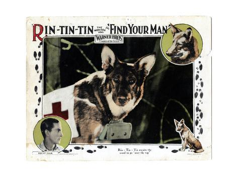 Find Your Man, Eric St. Clair, Rin Tin Tin, 1924 Giclee Print