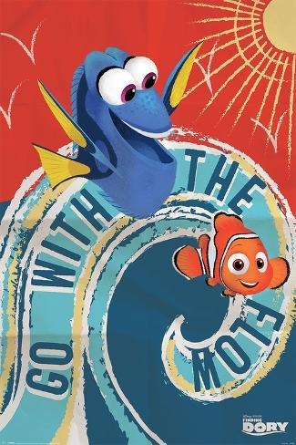 Finding Dory- Go With The Flow Poster