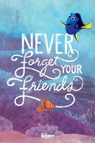 Finding Dory- Never Forget Poster