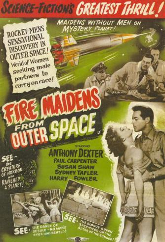 Fire Maidens From Outer Space Masterprint