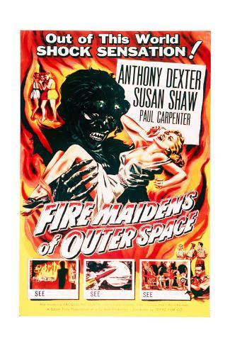 Fire Maidens of Outer Space - Movie Poster Reproduction Art Print
