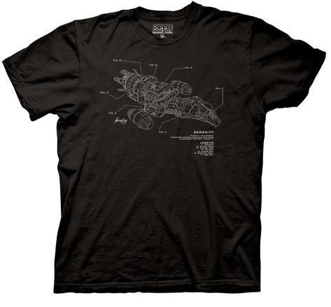 Firefly -  Serenity Diagram T-Shirt