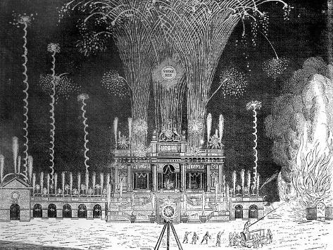 Fireworks at Green Park, St James's, April 27, 1749 Giclee Print