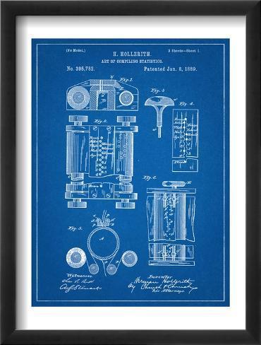 First Computer Patent 1889 Framed Art Print