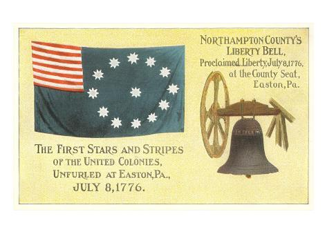 First Flag, Liberty Bell Art Print