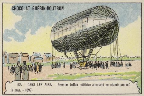 First German Hand-Powered Aluminium Military Balloon, 1897 Stampa giclée