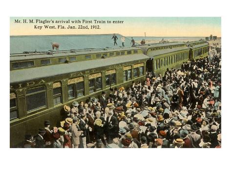 First Train to Key West, Florida Art Print