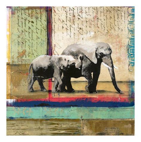 Serengeti Elephant Art Print