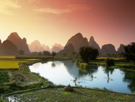 Fishing on the Li River Photographic Print