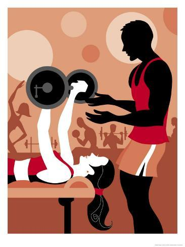 Fitness Trainer Art Print