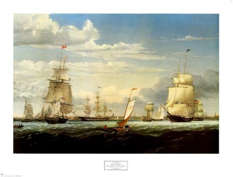 Boston Harbor, 1853 Art Print