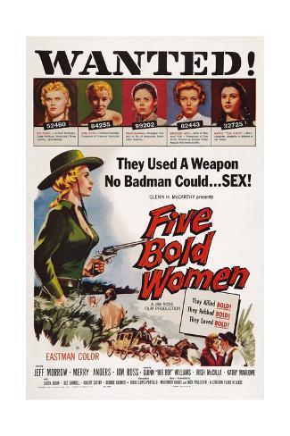 Five Bold Women Lámina giclée