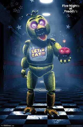 five nights at freddy s classic chica poster at allposters com
