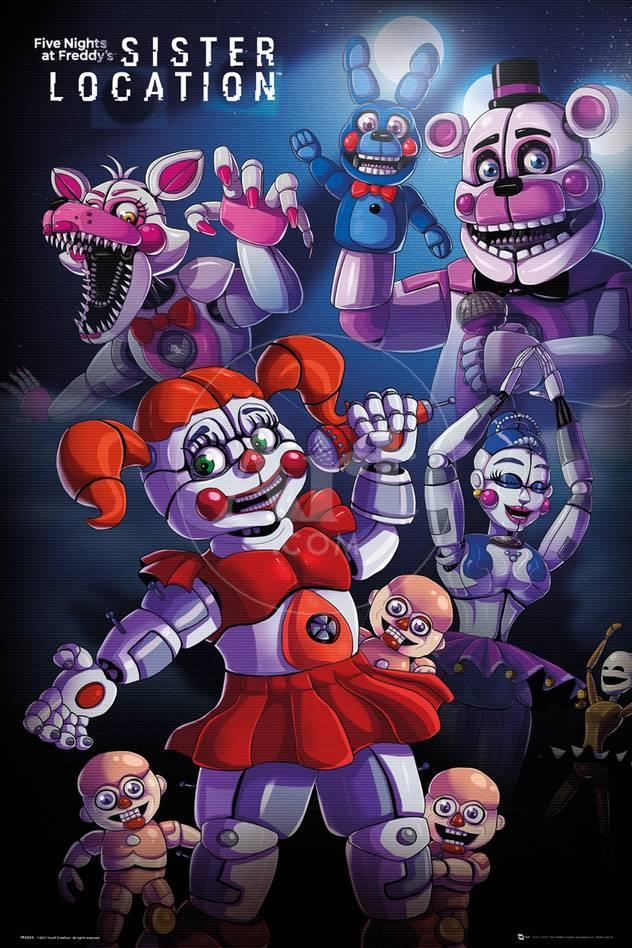 five nights at freddy s sister location group prints at allposters com