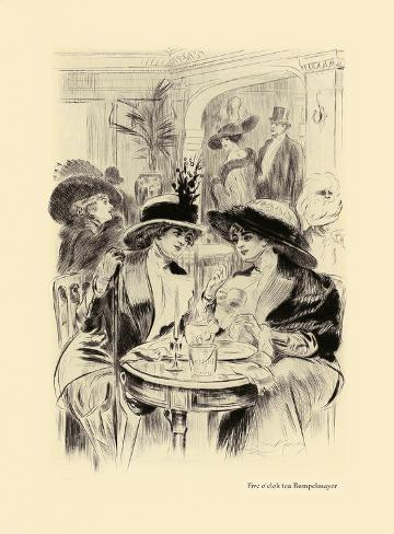Five O'clock Tea Rumpelmayer Premium-giclée-vedos
