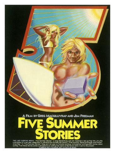 Five Summers Stories Surf Movie Poster Stampa giclée