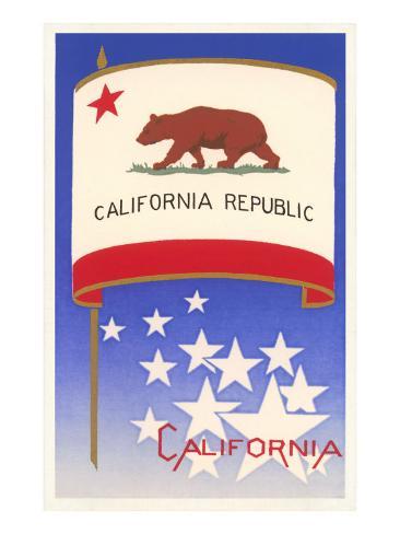 Flag of California Art Print