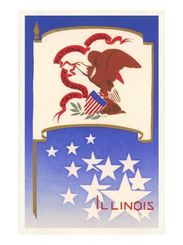 Flag of Illinois Art Print