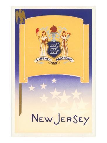 Flag of New Jersey Art Print