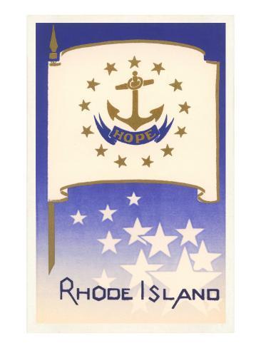 Flag of Rhode Island Art Print