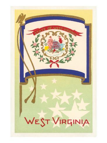 Flag of West Virginia Art Print
