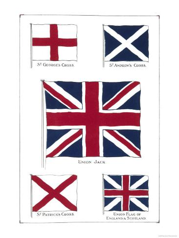 Flags Of The United Kingdom Union Jack And Its Components