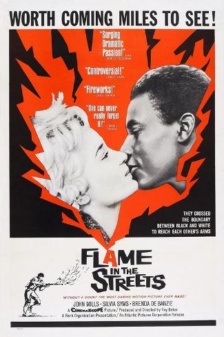 Flame in the Streets, Sylvia Syms, Johnny Sekka, 1961 Art Print