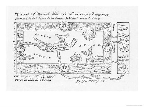 According to Cosmas Indicopleustes and His Contemporaries Giclee Print